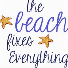 The Beach Fixes Everything Canvas 12  X 12  (unframed)