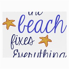 The Beach Fixes Everything Glasses Cloth (large, Two Sided)