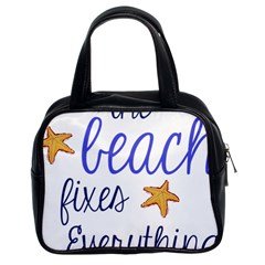 The Beach Fixes Everything Classic Handbag (two Sides)