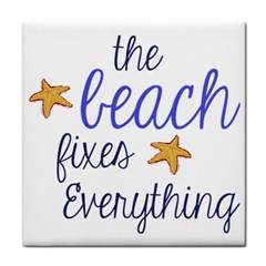 The Beach Fixes Everything Face Towel