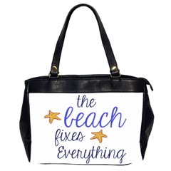 The Beach Fixes Everything Oversize Office Handbag (two Sides)