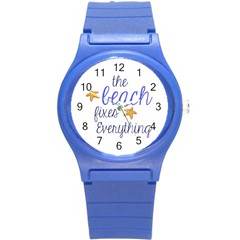 The Beach Fixes Everything Plastic Sport Watch (small)