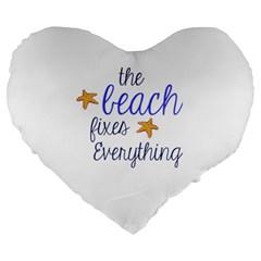 The Beach Fixes Everything 19  Premium Heart Shape Cushion