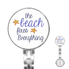The Beach Fixes Everything Stainless Steel Nurses Watch