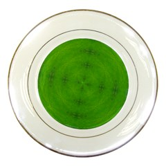 Go Green Kaleidoscope Porcelain Display Plate