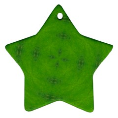 Go Green Kaleidoscope Star Ornament (Two Sides)