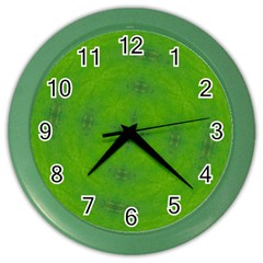 Go Green Kaleidoscope Wall Clock (color)