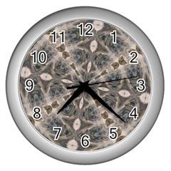 Flowing Waters Kaleidoscope Wall Clock (Silver)