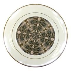 Flowing Waters Kaleidoscope Porcelain Display Plate