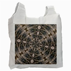 Flowing Waters Kaleidoscope White Reusable Bag (Two Sides)