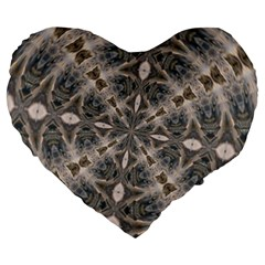 Flowing Waters Kaleidoscope 19  Premium Heart Shape Cushion