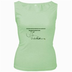 Better To Take Time To Think Women s Tank Top (Green)