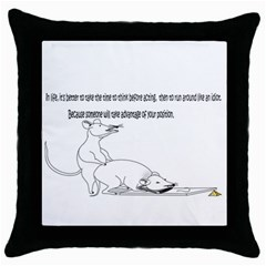 Better To Take Time To Think Black Throw Pillow Case