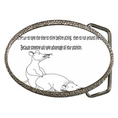 Better To Take Time To Think Belt Buckle (oval)