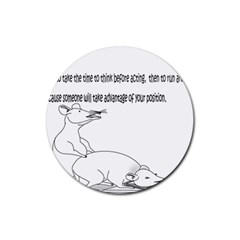 Better To Take Time To Think Drink Coaster (round)