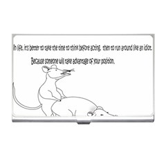 Better To Take Time To Think Business Card Holder
