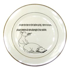 Better To Take Time To Think Porcelain Display Plate