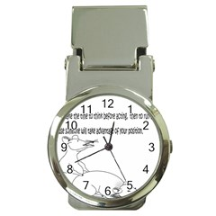 Better To Take Time To Think Money Clip with Watch
