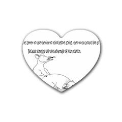 Better To Take Time To Think Drink Coasters 4 Pack (Heart)