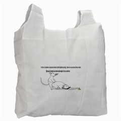 Better To Take Time To Think White Reusable Bag (one Side)