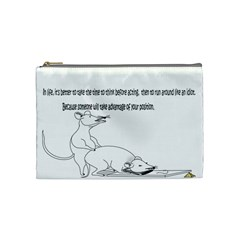 Better To Take Time To Think Cosmetic Bag (medium)