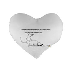 Better To Take Time To Think 16  Premium Heart Shape Cushion