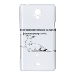 Better To Take Time To Think Sony Xperia T Hardshell Case