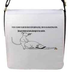 Better To Take Time To Think Flap Closure Messenger Bag (Small)