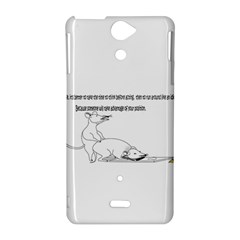 Better To Take Time To Think Sony Xperia V Hardshell Case