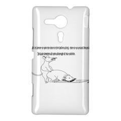 Better To Take Time To Think Sony Xperia SP M35H Hardshell Case