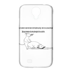 Better To Take Time To Think Samsung Galaxy S4 Classic Hardshell Case (PC+Silicone)