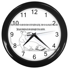 Better To Take Time To Think Wall Clock (black)
