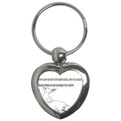 Better To Take Time To Think Key Chain (Heart)