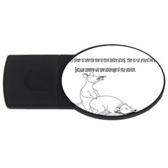 Better To Take Time To Think 1GB USB Flash Drive (Oval)