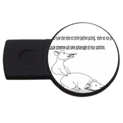 Better To Take Time To Think 4GB USB Flash Drive (Round)