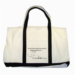 Better To Take Time To Think Two Toned Tote Bag
