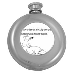 Better To Take Time To Think Hip Flask (Round)