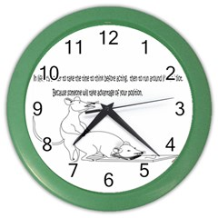 Better To Take Time To Think Wall Clock (Color)