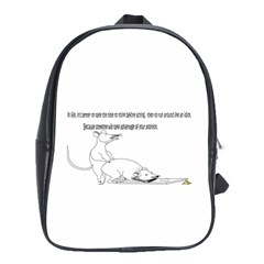 Better To Take Time To Think School Bag (large)