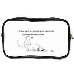 Better To Take Time To Think Travel Toiletry Bag (two Sides)