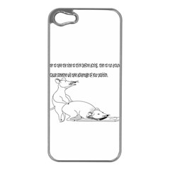 Better To Take Time To Think Apple Iphone 5 Case (silver)