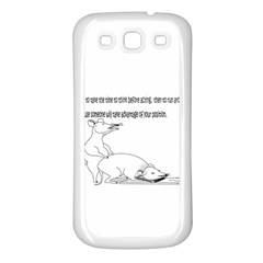 Better To Take Time To Think Samsung Galaxy S3 Back Case (white)