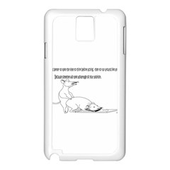 Better To Take Time To Think Samsung Galaxy Note 3 N9005 Case (White)