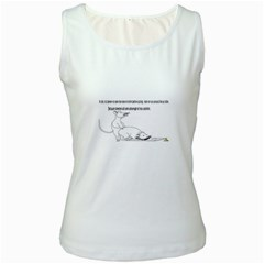 Better To Take Time To Think Women s Tank Top (White)