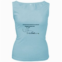Better To Take Time To Think Women s Tank Top (baby Blue)