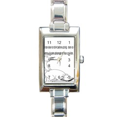Better To Take Time To Think Rectangular Italian Charm Watch