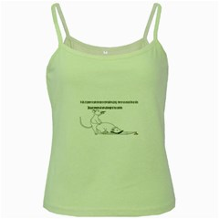 Better To Take Time To Think Green Spaghetti Tank