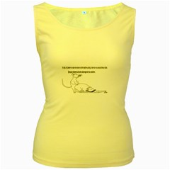 Better To Take Time To Think Women s Tank Top (Yellow)