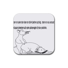 Better To Take Time To Think Drink Coaster (square)