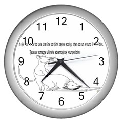 Better To Take Time To Think Wall Clock (Silver)